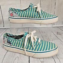 Keds Wf46493 Womens Original Aqua Striped Back Floral Casual Sneakers Shoes 5 Photo