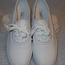 Keds White Leather Women Sneakers 7.5 B Photo