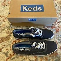 Keds - Women Fashion Sneakers Champion Canvas - Navy Women's Shoes - Size 7 Photo