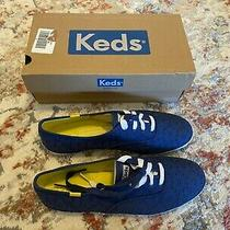 Keds - Women Fashion Sneakers - Eyelet Navy - Women's Shoes Lace Up - Size 10 Photo
