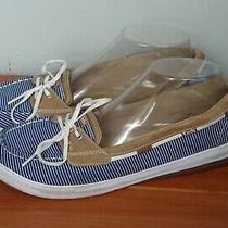 Keds Women's Blue White Stripes Sneakers Boat Shoes Size 10 Photo