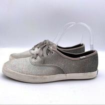 Keds Women's Size 6.5 Silver Gray Glitter Ombre Champion Lace Up Sneakers Photo