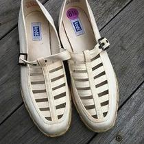 Keds Women's White Trendy Jute Espadrilles Size 8.5 Photo