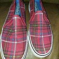 Keds Women' Size 9.5 Plaid Canvas Slip-on Sneakers  Photo
