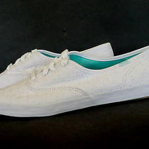 Keds Womens 10 White Sneakers Shoes Wf49836 Eyelet Lace Up New Canvas Photo
