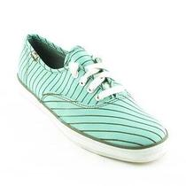 Keds Womens Aqua Candy Stripe Lace Up Shoes Size 7 (37.5 Eur 4.5 Uk) New Ked's  Photo