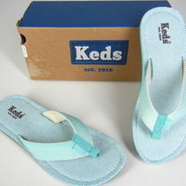 Keds Womens Blue Thong Flip Flops Sandals Summer 6 Nib New Photo