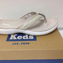 Keds Womens Flip Flop Thong T-Strap Sports Sandal Shoe Size 5.5m Stone  Photo