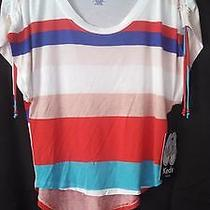 Keds Womens Juniors Hi Low Top Blouse Striped Xsmall Photo