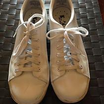 Keds Womens Sz 8 Athletic Tennis Walking Fashion White Leather Shoes Photo