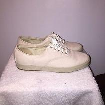 Keds Womens Tan Leather Lace Up Sneakers 9.5 Photo