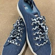 Keds X Draper James Lace Up Blue Jeans Womens Sneakers Sz 75 Brand New Photo