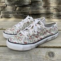 Keds X Hello Kitty Time White/box/print/sequin Sneakers Youth Size 4m/6w Ky41870 Photo