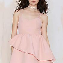 Keepsake Last Stand Ruffle Dress Blush Size Medium  Nasty Gal  Photo