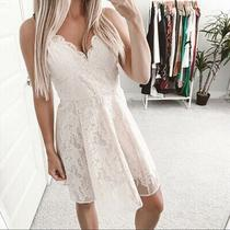 Keepsake Sundream Lace Skater Dress Blush Pink Size M Photo