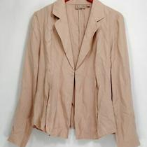 Kelly by Clinton Kelly Blazer 14 Draped Front Jacket Soft Blush Pink A252792 Photo