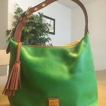 Kelly Green Dooney & Bourke Hobo Pebble Grain Leather Purse Bag Nwot Photo