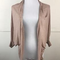 Kenar Cardigan Open Sweater Tunic Linen Blend Blush Pink Lightweight -Sz S - B2 Photo
