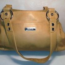 Kenneth Cole  8 X 14  Mustard / Natural Leather Handbag / Shoulder Bag  Cc-B2 Photo