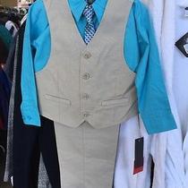 Kenneth Cole Big Boys 4-Piece Vest & Dress Pants Set Size 7 Boys Photo