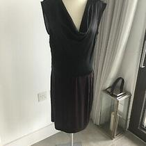 Kenneth Cole Black Cowl Neck Satin Dress Size Small Photo
