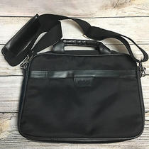 Kenneth Cole Black Small to Medium Laptop Tablet Crossbody R Tech Bag Flaw Photo