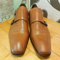 Kenneth Cole Brown Leather Double Monk Strap Loafers Men's 11m