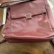 Kenneth Cole Christie Backpack Purse Burgundy New With Tags Photo