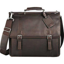 Kenneth Cole Colombian Leather Dowel Laptop Computer Messenger Bag Photo