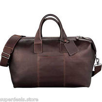 Kenneth Cole Colombian Leather Weekender Duffel Bag - Mahogany  Photo