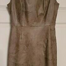 Kenneth Cole Dress Tan Faux Leather Size 6 Lined Sleeveless Photo