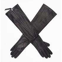 Kenneth Cole Elbow-Length Perforated Leather Gloves Photo