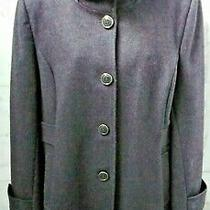 Kenneth Cole Heather Gray City Coat 14 Standup Collar Bold Details Zip-Off Hood Photo