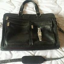 Kenneth Cole Leather Briefcase and Mens Watch Photo