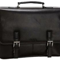 Kenneth Cole Manhattan Black Leather Computer Messenger Bag Photo