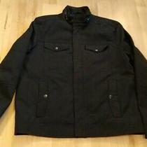 Kenneth Cole Men's Full Zip Black Denim Jacket Size L Photo