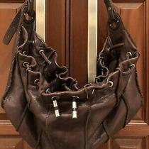 Kenneth Cole New York Brown Leather Shoulder Bag Purse Photo