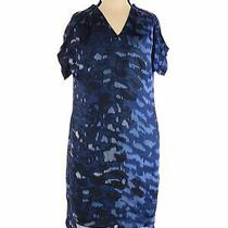 Kenneth Cole New York Women Blue Casual Dress Xs Photo