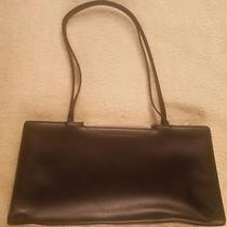 Kenneth Cole New York Womens Black Leather Satchel Purse Handbag Two Handles  Photo
