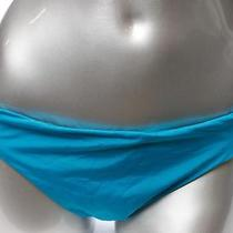 Kenneth Cole New York Womens L Bikini Bottom Blue Solid Swim Stretch Ladies Sale Photo