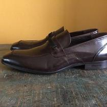 Kenneth Cole Ny Fair Chair Mens 11.5 Brown Apron Leather Loafers Shoes Slip On Photo