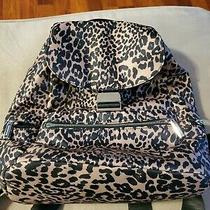 Kenneth Cole Reaction Backpack Purse. Brown With Black Print. Excellent Conditio Photo