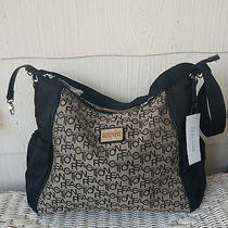 Kenneth Cole Reaction Black and Tan Hobo Tote Diaper Bag Photo