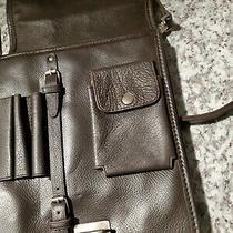 Kenneth Cole Reaction Black Full-Grain Leather Shoulder/messenger Bag(brown) Photo