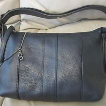 Kenneth Cole Reaction Black Leather Hobo Shoulder Bag Purse Small Photo