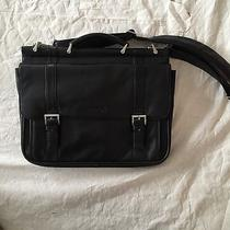 Kenneth Cole Reaction Black Leather Laptop Briefcase Photo