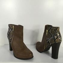 Kenneth Cole Reaction Brown Snake Embellished Booties Ankle Boots 6.5 Photo