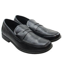 Kenneth Cole Reaction Club Step Boys Black Penny Loafers Dress Shoes Youth Sz 7 Photo