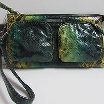 Kenneth Cole Reaction Faux Snake Wrist Let Green Yellow Nwt Photo