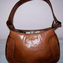 Kenneth Cole Reaction Glazed Leather Small Hobo Handbag Excellent Condition Photo